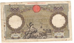 Italy 100 Lire 20/02/1941 - [ 1] …-1946 : Kingdom