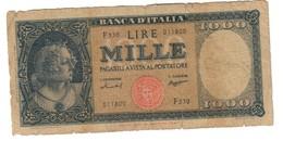 Italy 1000 Lire 15/09/1959 - [ 2] 1946-… : Repubblica
