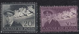 UNGHERIA - 1942/1943 - Due Valori Nuovi MNH: Yvert 52 E 57. - Airmail
