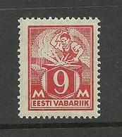 Estonia 1923 Blacksmith Michel 38 A * - Estonia