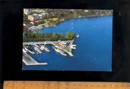 LAUSANNE OUCHY Vaud : Vue Aérienne Et Le Port Au Bateaux Vapeur Du Lac Léman Schiff Steam Boats Steamers - VD Vaud