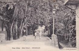 KINGS COLLEGE. ALBERT STREET. SEYCHELLES. CIRCULEE 1919 A FRANCE. S.S. OHASHI PHOTO-RARE-BLEUP - Seychellen