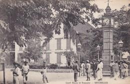 COURT HOUSE ET TREASURY. SEYCHELLES. S.S. OHASHI PHOTO. CIRCA 1900s-RARE-BLEUP - Seychellen