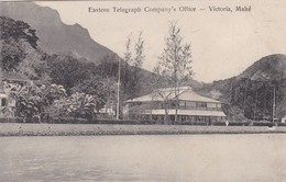 EASTERN TELEGRAPH COMPANY'S OFFICE. VICTORIA,MAHE. SEYCHELLES. S.S. OHASHI PHOTO. CIRCA 1900s-RARE-BLEUP - Seychellen