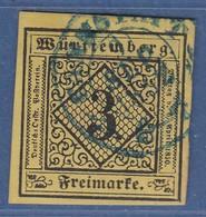 Württemberg 3 Kreuzer Gelb Mi.-Nr. 2 Gestempelt CANNSTADT - Wurttemberg