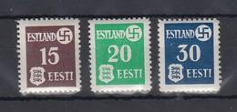 Dt. Besetzung 2.Weltkrieg, Estland, Landespost Mi.-Nr. 1-3 Gestrichenes Pap. ** - Occupation 1938-45