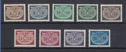 Generalgouvernement 1940 Dienstmarken Reichsadler Mi.-Nr. 16-24 Satz 9 Werte **  - Besetzungen 1938-45