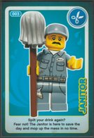Lego Trading Card - Create The World - 003 Janitor - Trading Cards