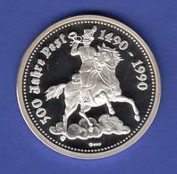 Silbermedaille 500 Jahre Post Franz Von Taxis 1490-1990 Ag999, 19,8g - Tokens & Medals