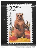 1987 22 Cents Wildlife - Alaskan Brown Bear Mint Never Hinged - Etats-Unis