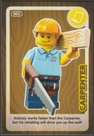 Lego Trading Card - Create The World - 005 Carpenter - Trading Cards