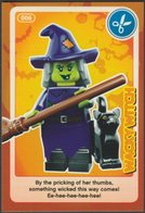Lego Trading Card - Create The World - 006 Wacky Witch - Trading Cards