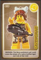 Lego Trading Card - Create The World - 009 Cavewoman - Trading Cards