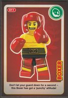 Lego Trading Card - Create The World - 011 Boxer - Trading Cards