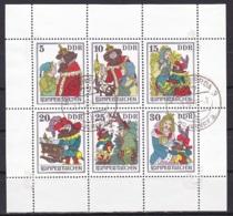 G.D.R/1976 - Rumpelstiltskin/Rumpelstilzchen - Mini Sheet - 'HOYERSWERDA 3' Cancellation - [6] Democratic Republic