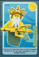 Lego Trading Card - Create The World - 012 Ocean King - Trading Cards