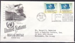 UN/New York/1962 - UN Flag - 3 C - FDC - New-York - Siège De L'ONU