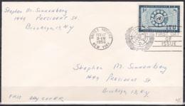 UN/New York/1956 - ITU - 3 C - FDC - New-York - Siège De L'ONU