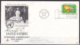 UN/New York/1961 - Economic Commission For Africa - 11 C - FDC - New-York - Siège De L'ONU