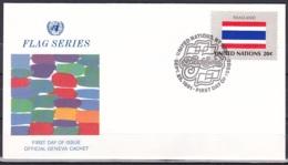 UN/New York/1981 - Flag Series Thailand - 20 C - FDC Geneva Cachet - New-York - Siège De L'ONU