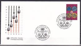 UN/Vienna/1983 - Trade & Development/Handel Und Entwicklung - 8.50 S - FDC Geneva Cachet - FDC
