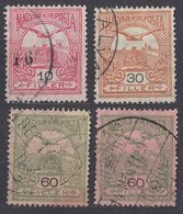 UNGHERIA - 1913 - Quattro Valori Usati: Yvert 94 II, 98 II, 101 II E 102 II. - Usati