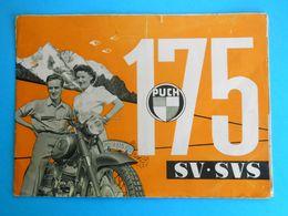 PUCH 175 SV-SVS  Austria Motorcycle - Original Vintage Yugoslav Brochure * Moto Motorrad Motociclo Motorbike Osterreich - Motos
