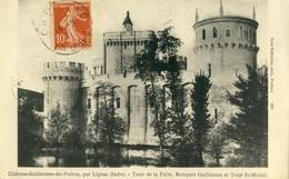 LIGNAC .  Château Guillaume De Poitou .  BELLE CARTE 1911  . - France