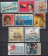 PAPUA NEUGUINEA 1976-1989 - Lot 10x  Used - Papua-Neuguinea