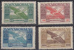 UNGHERIA - 1924 - Quattro Valori Nuovi MNH: Yvert Posta Aerea 6/9. - Posta Aerea