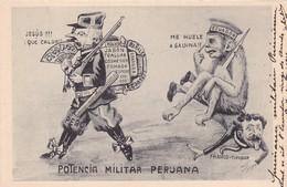 QUE CALOR! POTENCIA MILITAR PERUANA... DISPUTA POLITICA ENTRE PERU Y ECUADOR. CIRCULEE 1910-UNIQUE,TRES RARISIME! -BLEUP - Equateur