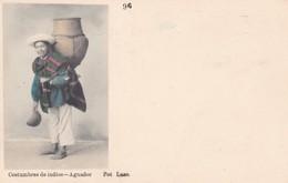 COSTUMBRES DE INDIOS. AGUADOR. FOT LASO. VENEGAS Y CIA. CIRCA 1900s COLORISE. RARISIME. TBE -BLEUP - Equateur