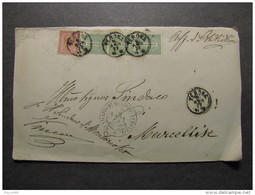 """3564 ITALIA Regno-1866- """"T 15 Torino"""" C. 2 + C. 1 VERONA>MARCELLISE (descrizione) - 1861-78 Victor Emmanuel II"""
