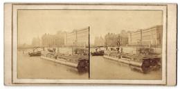 Vue Stéréoscopique-Photo Photographe Inconnu,  Vue De Paris, Seine & Ile De La City - Stereo-Photographie