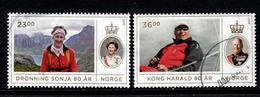 Noorwegen, Yv 1870-71 Jaar 2017, Hoge Waarden, Gestempeld, Zie Scan - Norvège