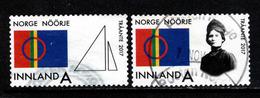 Noorwegen, Yv 1868-69 Jaar 2017,  Gestempeld, Zie Scan - Norvège
