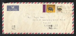 Malawi 1977 Slogan Postmark Air Mail Postal Used Cover Malawi To Pakistan Handicrafts Animal - Malawi (1964-...)