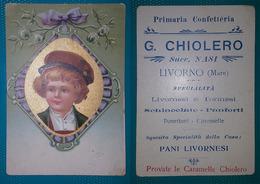 Cartolina Pubblicitaria G. Chiolero Succ. Nasi. Livorno Mare. - Publicité