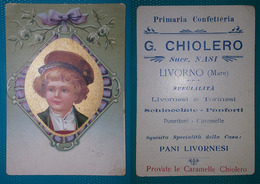 Cartolina Pubblicitaria G. Chiolero Succ. Nasi. Livorno Mare. - Pubblicitari