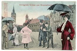 COMIC PHOTO MONTAGE : ALLEMAGNE - BRAUNSCHWEIG - VERREGNETE GRUSSE - Braunschweig