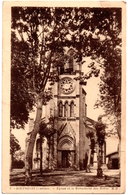 CPA Souprosse 40. Eglise Et Le Monument Des Morts - Andere Gemeenten