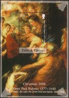 Turks & Caicos Islands 2006 Rubens, Christmas $6 Souvenir Sheet Unmounted Mint. - Turks And Caicos