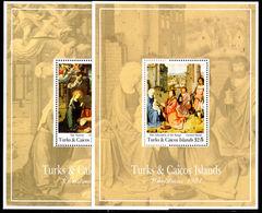 Turks & Caicos Islands 1991 Christmas Souvenir Sheet Set Unmounted Mint. - Turks And Caicos