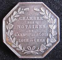 Jeton En Argent Chambre Des Notaires De L'arrondissement De Blois, Loir Et Cher - Professionnels / De Société