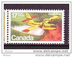 Canada, 1979, #844, Avion Pour éteindre Les Feux De Forêt, Sapeur Pompier, Hydravion, Plane, Firefighter - Sapeurs-Pompiers