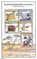 Botswana 2018 Reptiles & Fish 5v M/s, (Mint NH), Frogs & Toads - Reptiles - Fish - Turtles - Snakes - Botswana (1966-...)