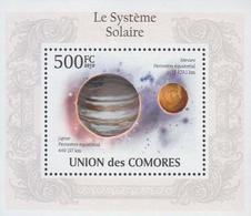 2010 Comores  Stamps  Solar System 4 S/S - Astrologie