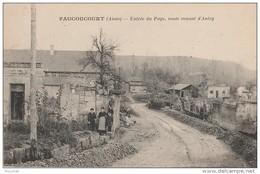PA17- 02)  FAUCOUCOURT (AISNE) ENTRÉE DU PAYS  , ROUTE VENANT D ' ANIZY -  (ANIMÉE - 2 SCANS) - France