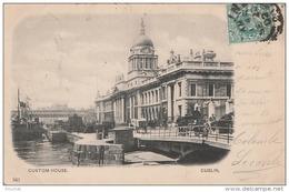 Q2- DUBLIN  - CUSTOM  HOUSE  - (OBLITERATION DE 1902 - TIMBRES TAXE AU DOS  - 2 SCANS) - Dublin