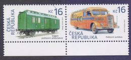 CZECH Republic 2017 - Historical Vehicles, Post Bus And Rail Road Mail Car, MNH (Specimen) - Czech Republic